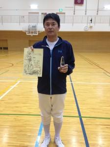 男子エペ第1位 小坂貞治 (神戸クラブ)